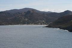 Landskap av Korsika i sommartiden Arkivbild