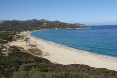 Landskap av Korsika i sommartiden Royaltyfria Foton
