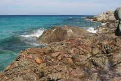 Landskap av Korsika i sommartiden Royaltyfri Bild