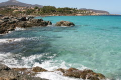 Landskap av Korsika i sommartiden Royaltyfri Foto