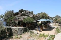 Landskap av Korsika i sommartiden Arkivbilder