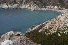 Landskap av Korsika i sommartiden Arkivfoto