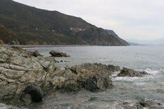 Landskap av Korsika i sommartiden Royaltyfri Fotografi