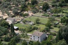 Landskap av Korsika i sommartiden Arkivfoton