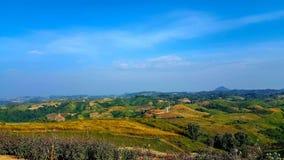Landskap av kullarna, i Khao Kor, Thailand fotografering för bildbyråer