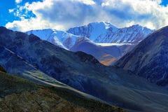 Landskap av Ladakh, Jammu and Kashmir, Indien Arkivfoto