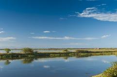 Landskap av lagun på nationalparken för Po-deltaflod, Ita Fotografering för Bildbyråer