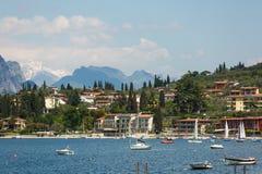 Landskap av laken Garda Arkivbilder