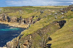 Landskap av Land's End i Cornwall England Arkivfoton