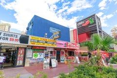 Landskap av Las Vegas Boulevard Arkivbilder