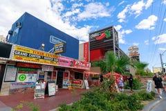 Landskap av Las Vegas Boulevard Arkivfoton