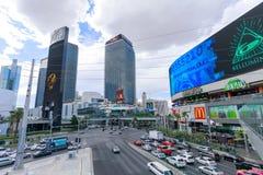 Landskap av Las Vegas Boulevard Royaltyfria Bilder
