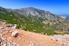Lasithi berg på Crete Royaltyfria Bilder