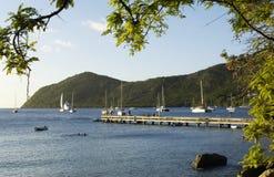 Landskap av Les Anses D Arlet, stora Anse i Martinique royaltyfria foton