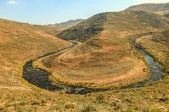 Landskap av Lesotho Arkivfoton