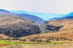 Landskap av Lesotho Royaltyfria Foton