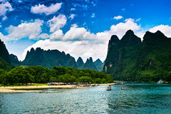 Landskap av li jiang Arkivbilder