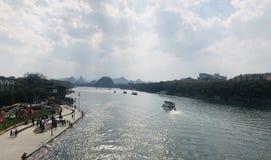 Landskap av Lijiang River i Guilin royaltyfria foton