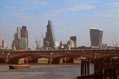 Landskap av moderna London Arkivfoto