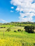 Landskap av Monsaraz Arkivfoto
