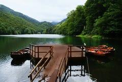 Landskap av Montenegro, berg och sjön royaltyfri foto