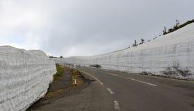 Landskap av monteringen Iwate i Tohoku, Japan arkivbild