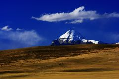 Landskap av Mount Kailash Royaltyfri Bild