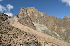 Landskap av Mount Kenya Arkivfoto