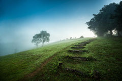 Landskap av nationalparken i Nan, Thailand Arkivbilder