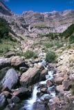 Landskap av nationalparken av ordesaen spain royaltyfria bilder