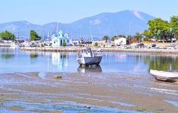 Landskap av Nea Artaki Euboea Greece arkivfoton
