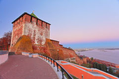 Landskap av Nizhniy Novgorod Arkivfoton