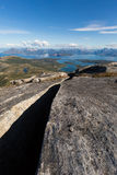 Landskap av nordliga Norge royaltyfria bilder