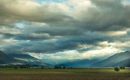 Landskap av Nya Zeeland Royaltyfri Fotografi