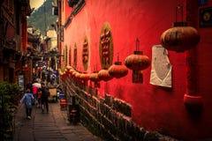 Landskap av Phoenix forntida townFenghuang, Hunan, Kina royaltyfri fotografi