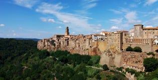 Landskap av Pitigliano, Grosseto, Italien fotografering för bildbyråer