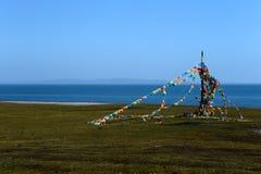 Landskap av Qinghai sjön Arkivfoto