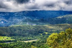 Landskap av Rocky Mountains i Spanien Royaltyfri Fotografi