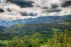 Landskap av Rocky Mountains i Spanien Fotografering för Bildbyråer