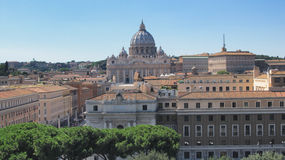 Landskap av Rome med Vaticanen Arkivfoton