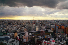 Landskap av södra Osaka royaltyfria bilder