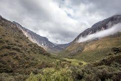 Landskap av Santa Cruz Trek, Cordillera Blanca, Peru South America Arkivfoton