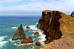Landskap av seacliff Arkivfoto