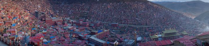 Landskap av Sedah i Ganzi, Sichuan, Kina arkivfoton