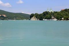 Landskap av sjön Abrau Royaltyfria Foton