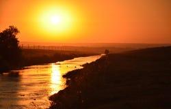 Landskap av soluppgång Arkivbild