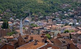 Landskap av staden, Prizren, Kosovo Royaltyfri Foto