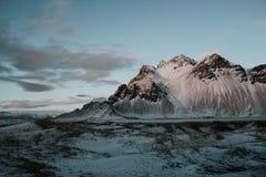 Landskap av Stokksnes, Island Royaltyfri Fotografi