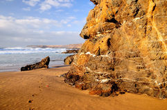 Landskap av stranden och stenen royaltyfri bild