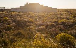 Landskap av sydliga Portugal, algarve region Arkivfoto